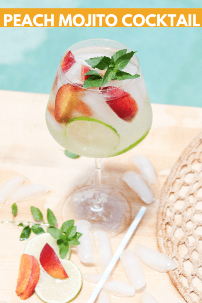 Peach Mojito Cocktail