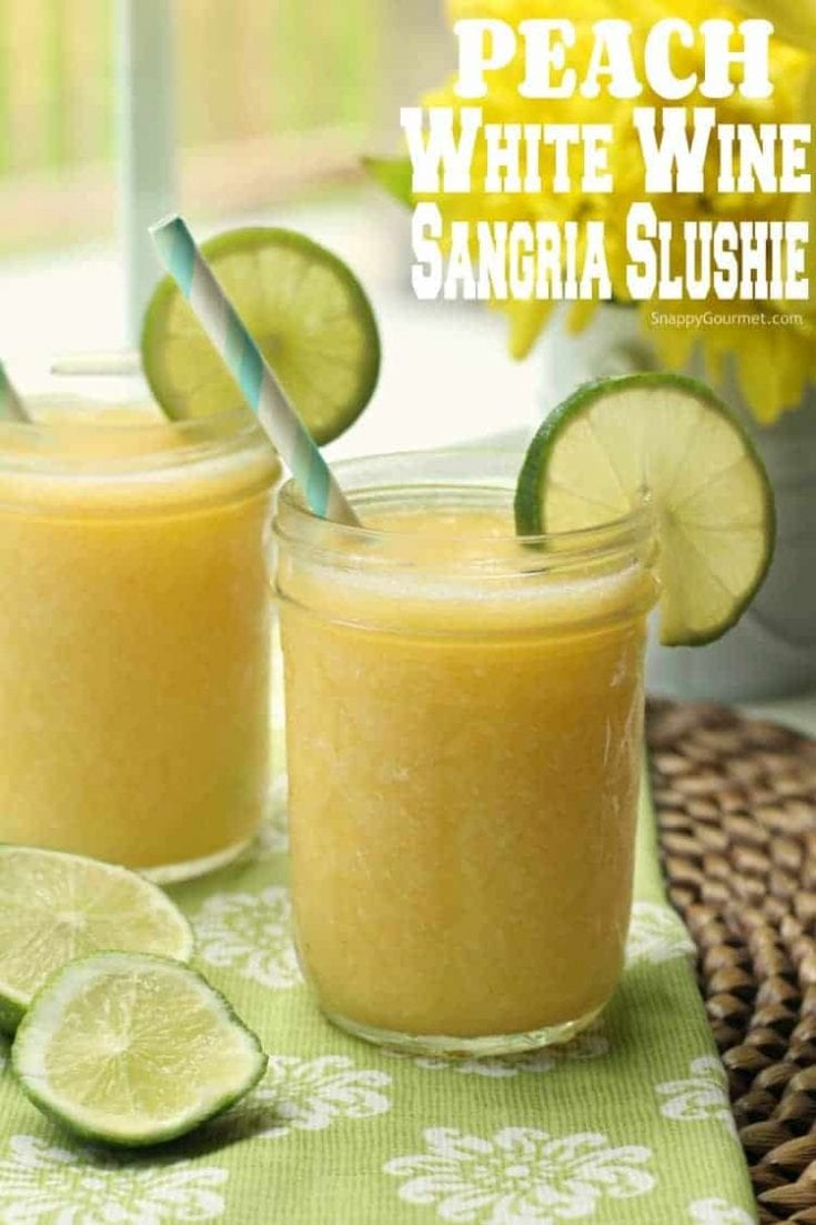 Peach White Wine Sangria Slushie Recipe