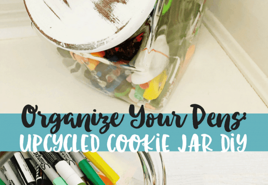 How to Store Your Planner Pens: Upcycled Cookie Jar Makeover
