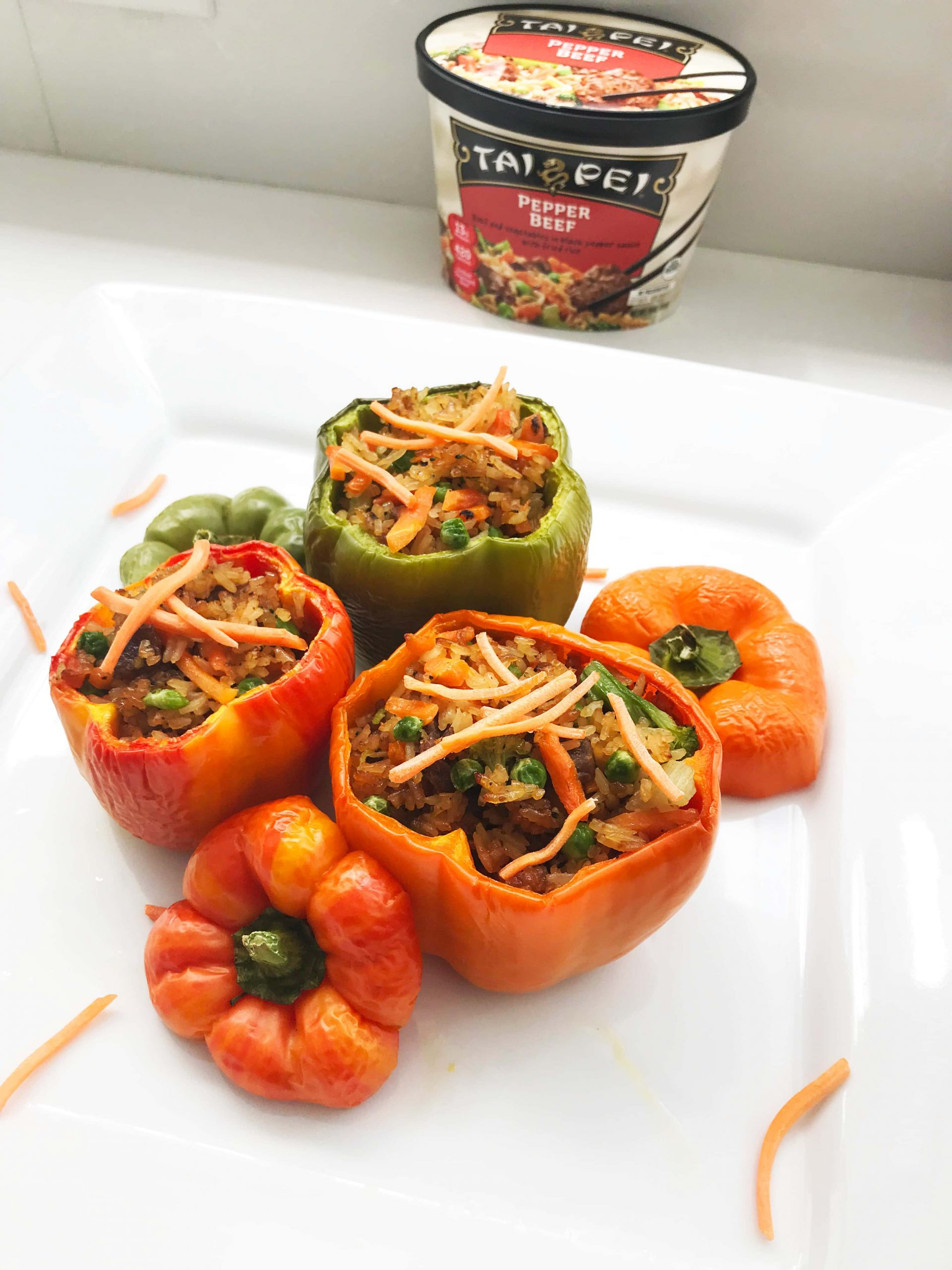 Easy Summer Meal Idea: Pepper Steak Stuffed Bell Peppers