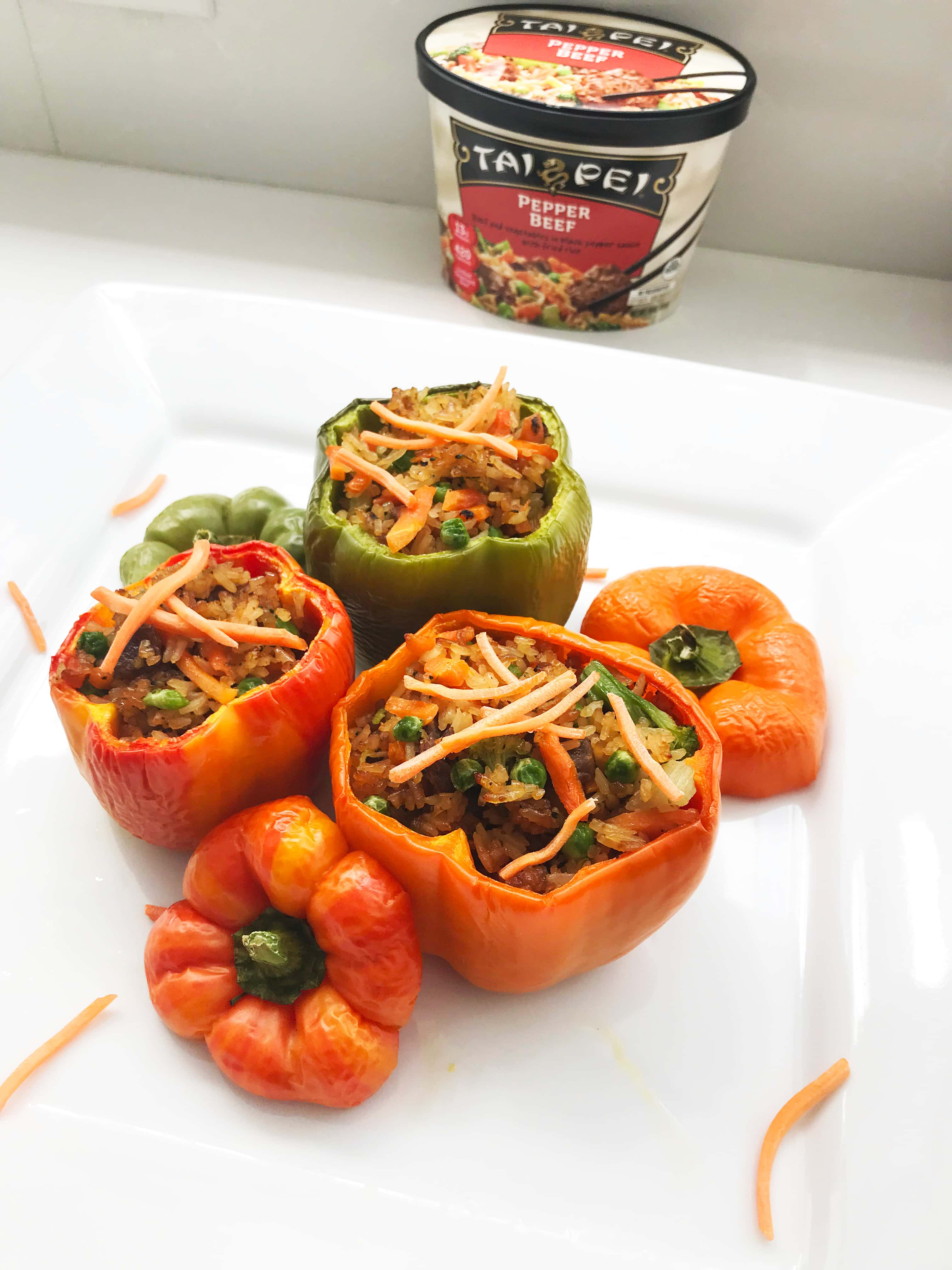 Easy Summer Meal Idea: Pepper Steak Stuffed Bell Peppers