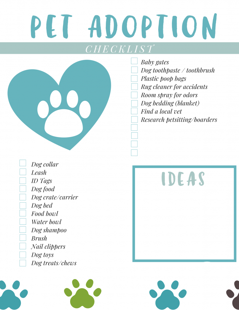 Pet Adoption Checklist