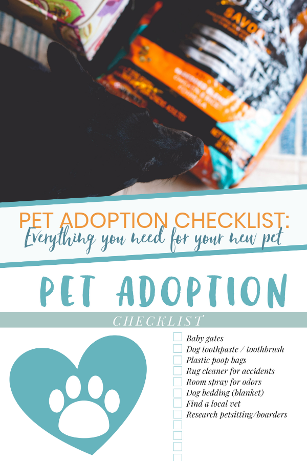 Pet Adoption Supplies Checklist