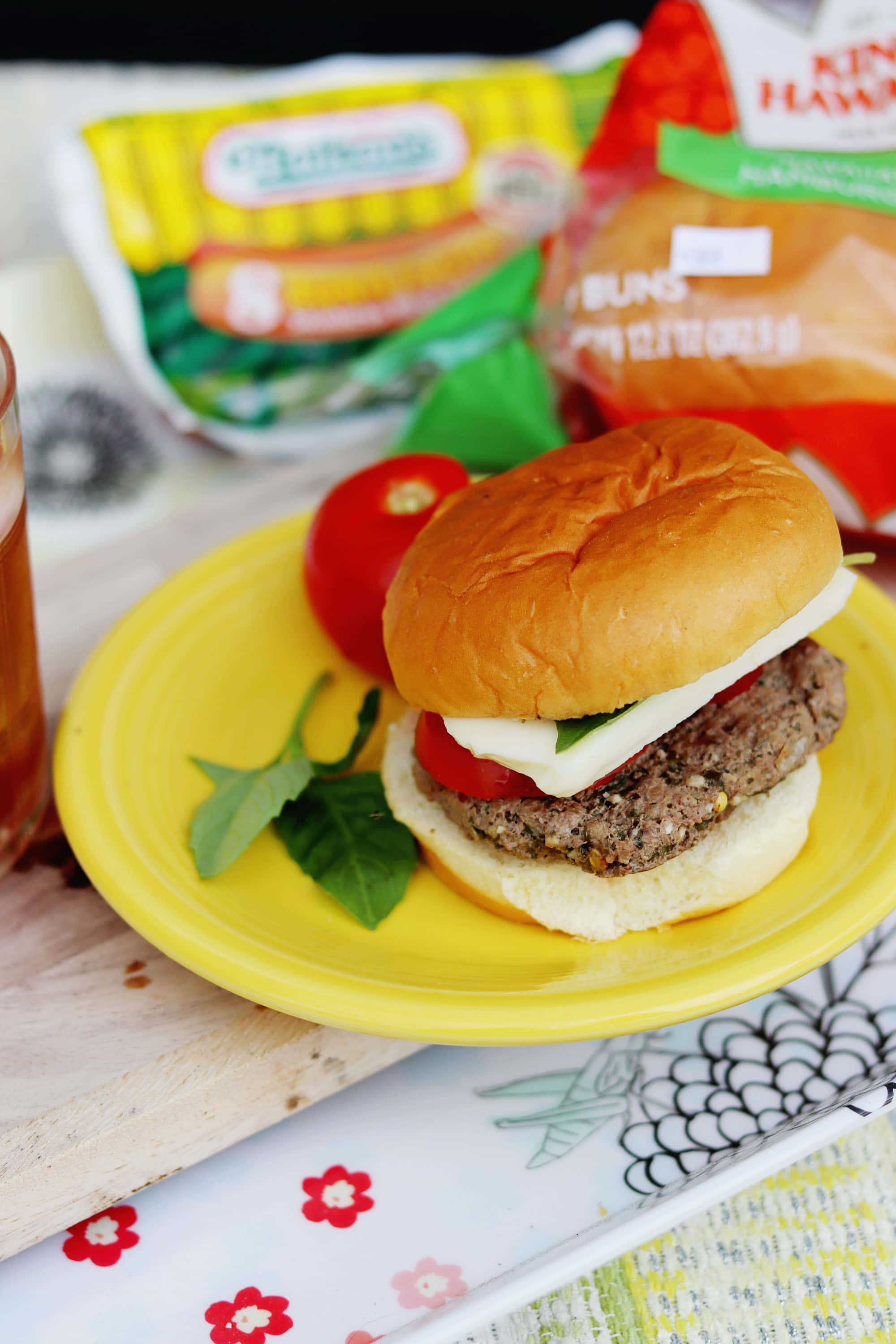 Grilled Caprese Burgers