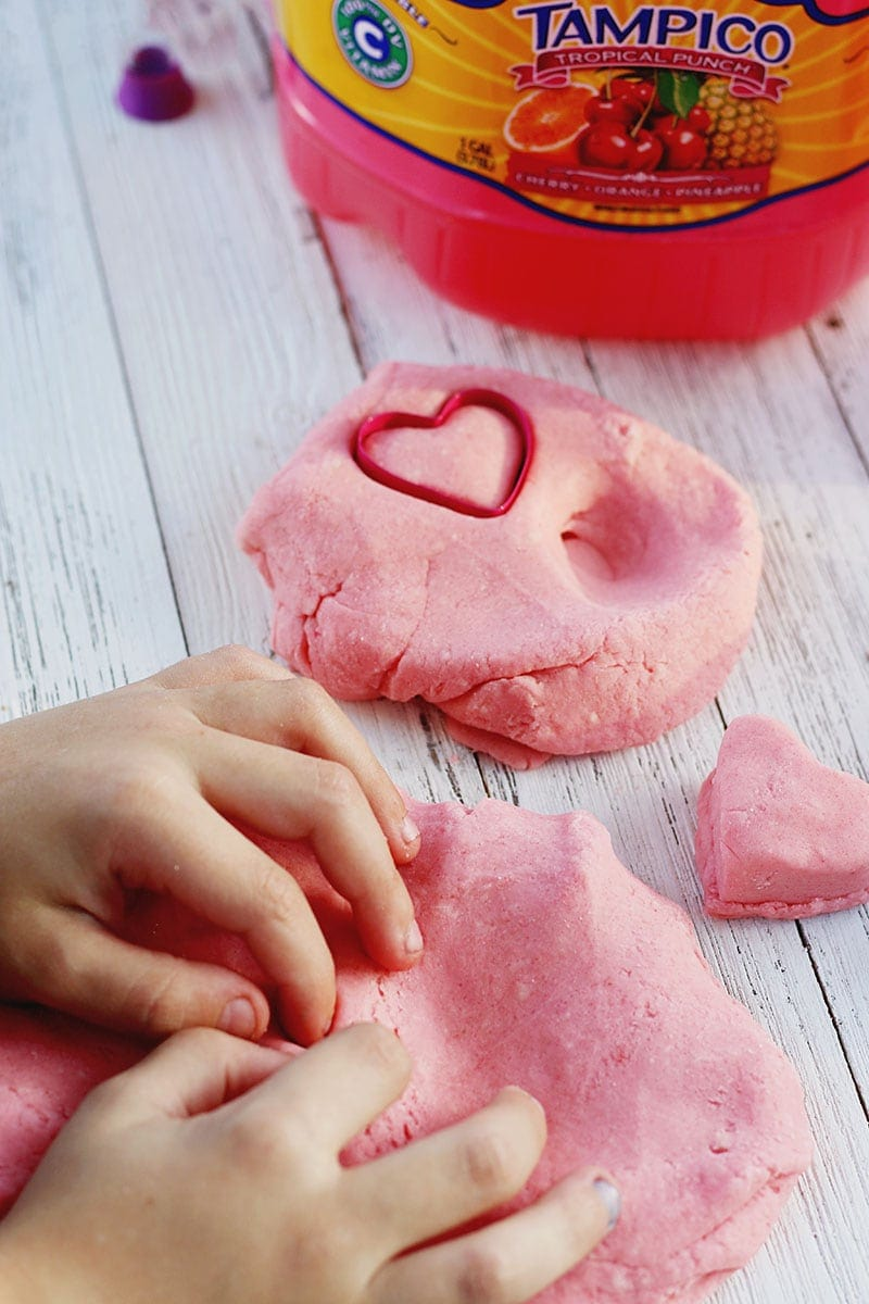 PInk Play Dough Recipe