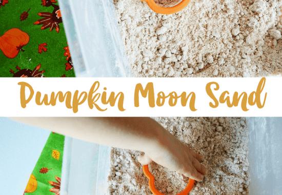 How to Make Pumpkin Moon Sand