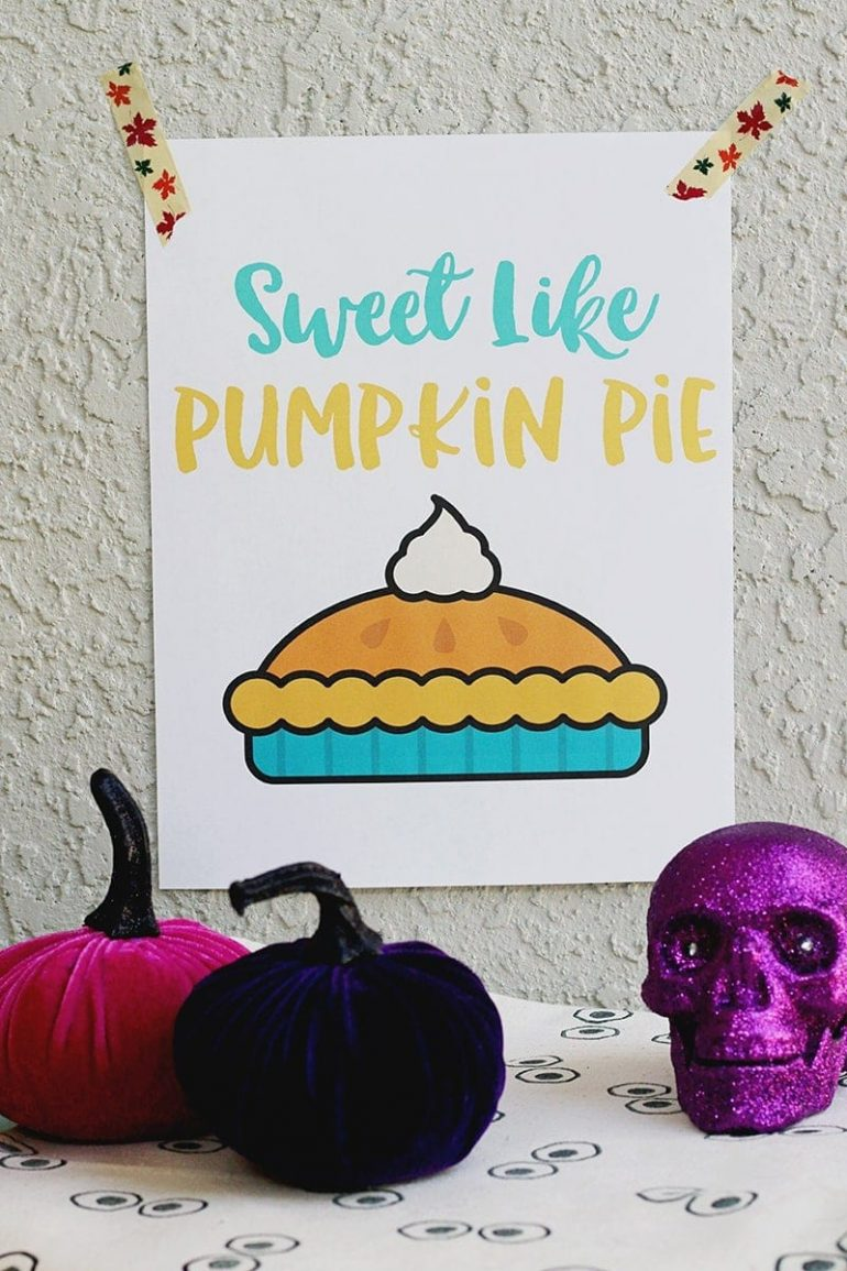 How to Save Money This Fall | Fall Pumpkin Pie Printable