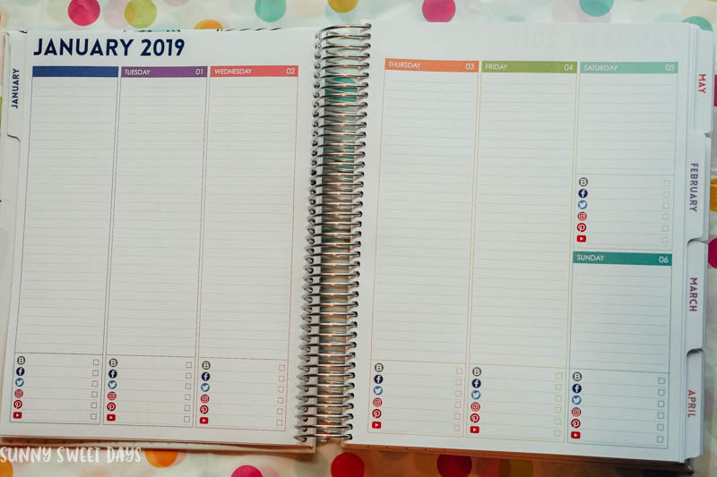 Purple Trail Blog Planner