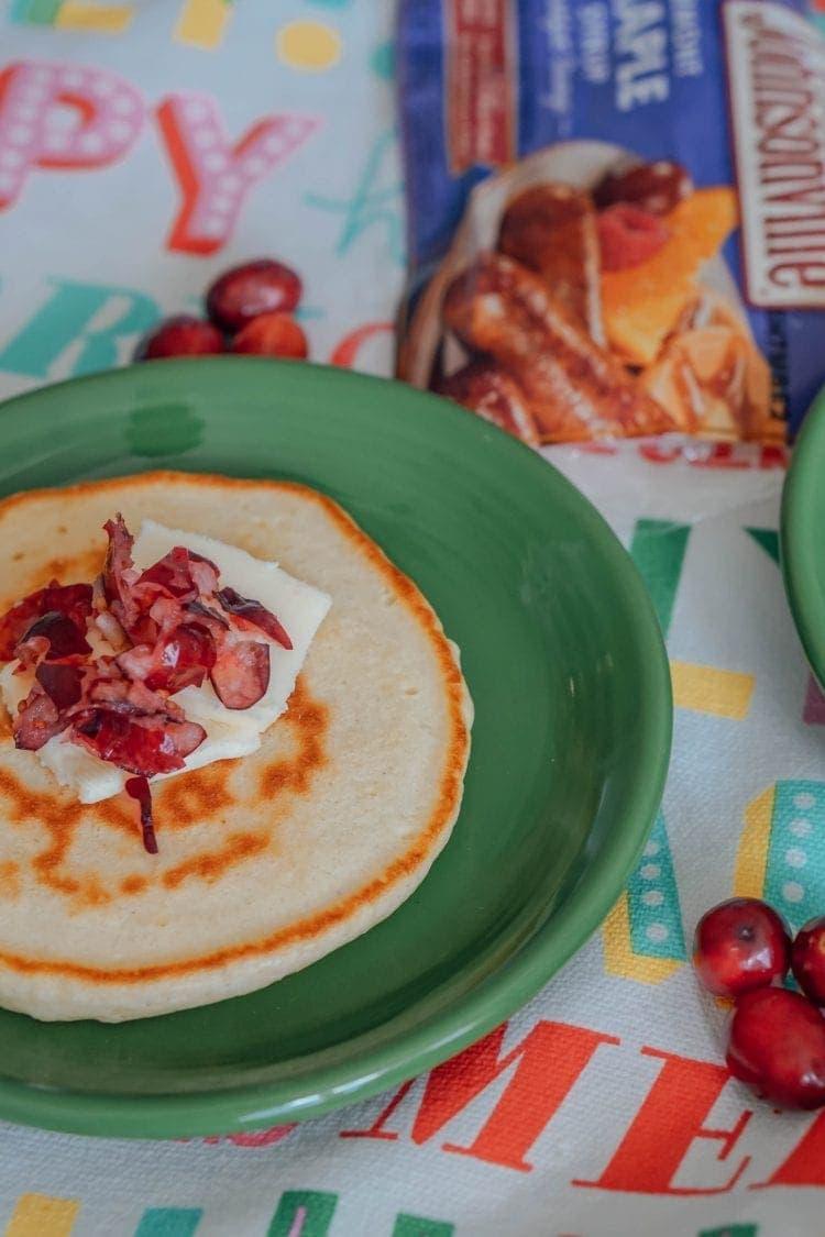 Quick Cranberry Pancake