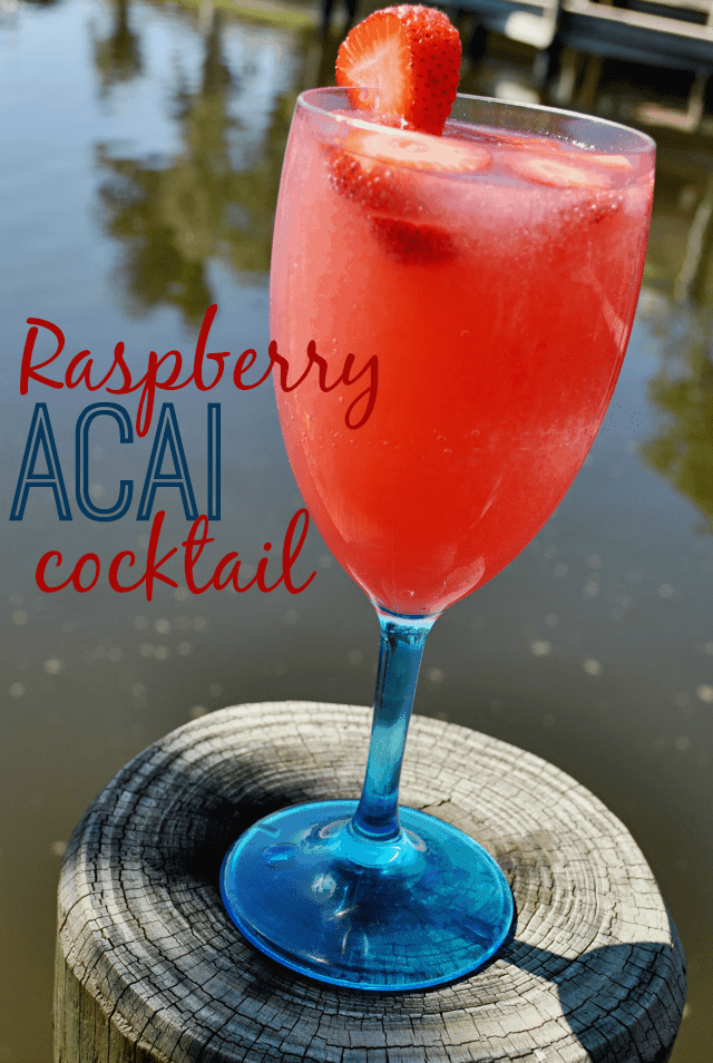 Raspberry Acai Cocktail