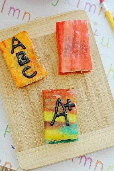 Back to School Treats   ABC Rice Cereal Book Treats
