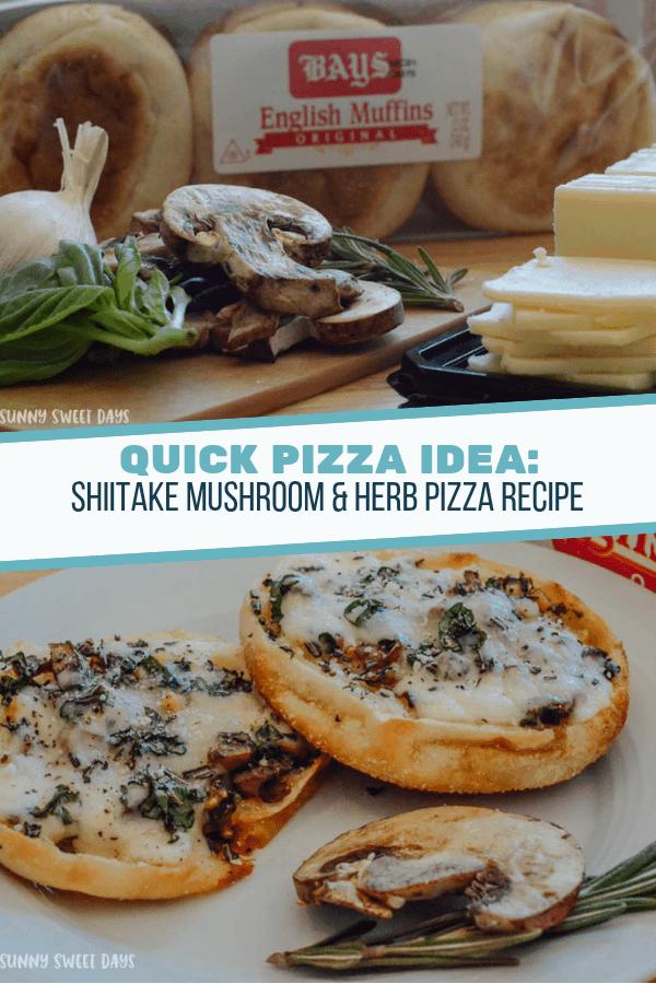 SHIITAKE MUSHROOM & HERB PIZZA RECIPE