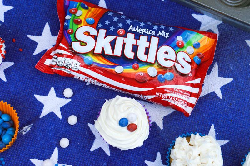 Skittles Cupcakes