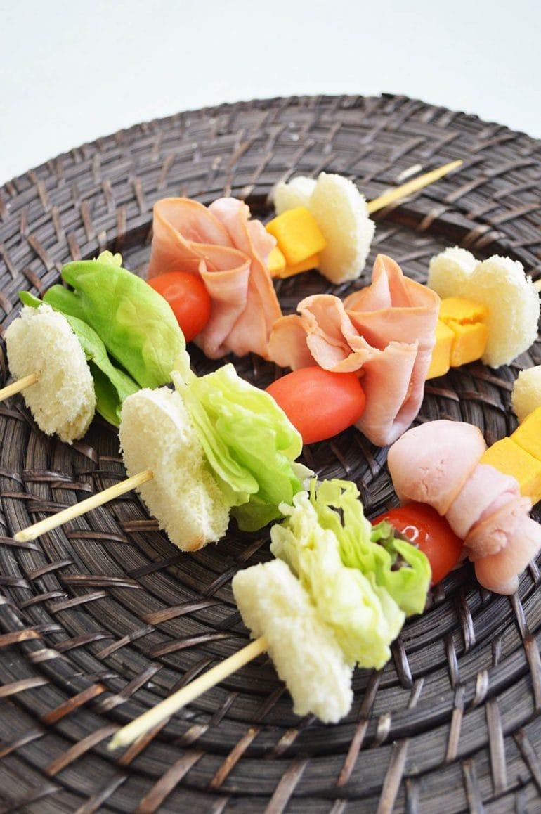 Back to School Lunch Ideas: Sandwich Kabobs