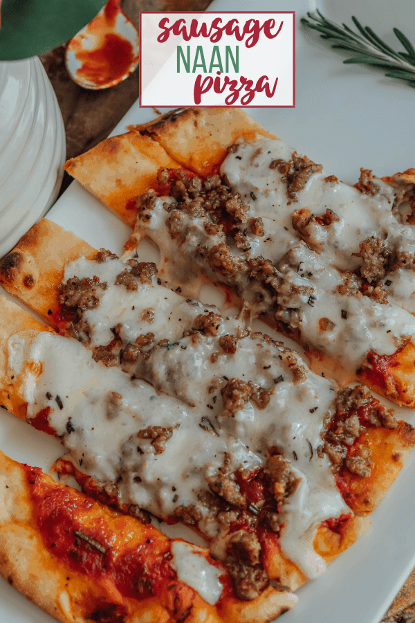 Sausage Naan Pizza
