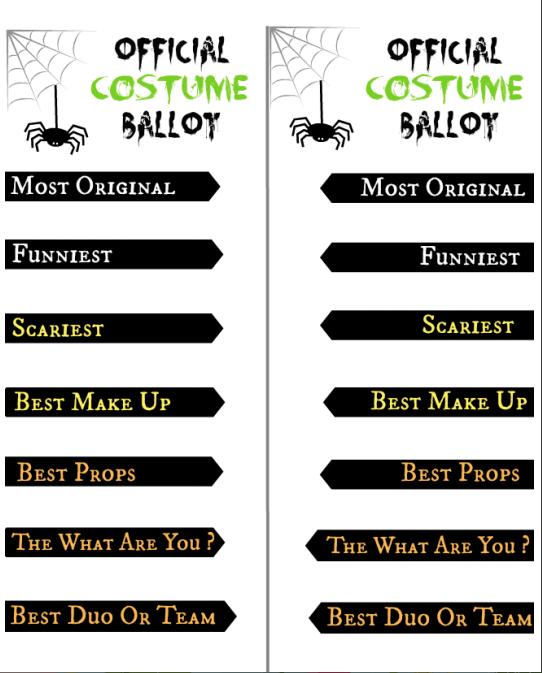 HAlloween Costume Contest Ballo