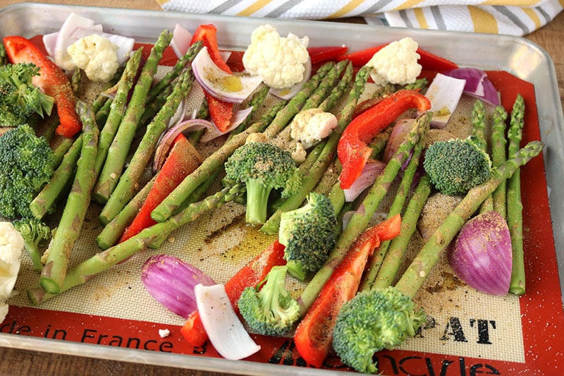 Whole 30 Roasted Vegetables