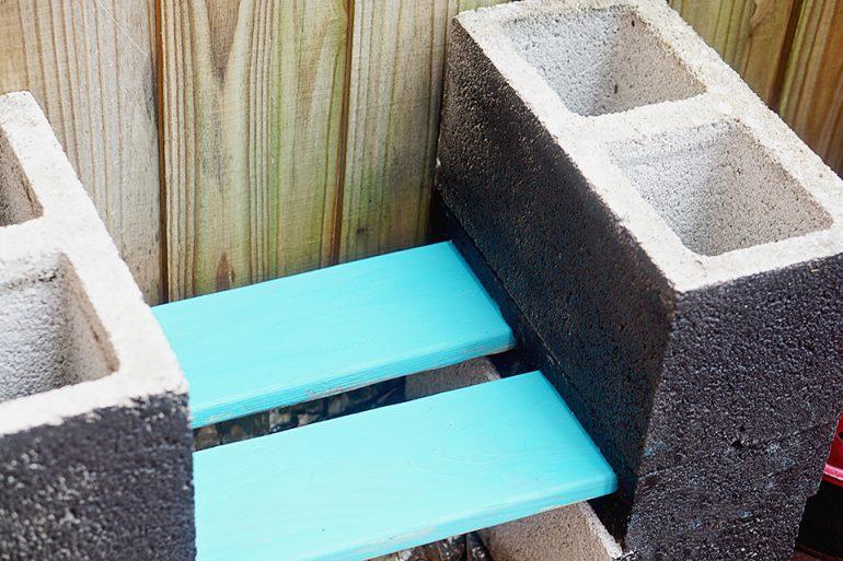 Chalkboard Garden Shelf