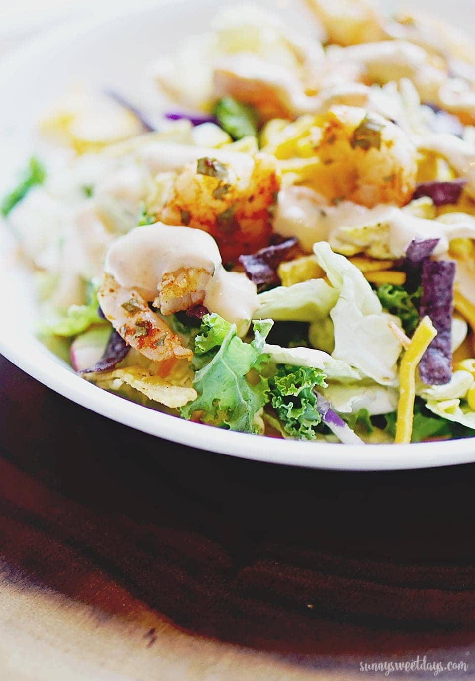 Southwestern Kale Shrimp Salad