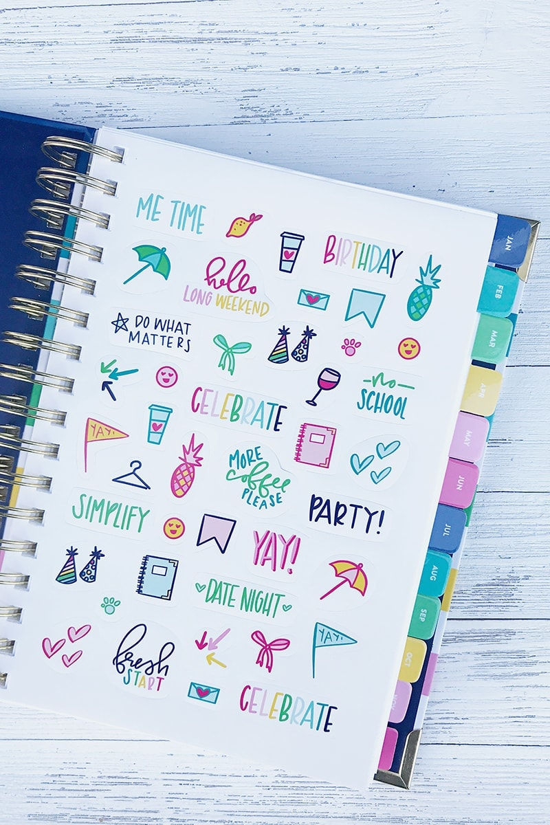 Simplified Planner Stickers