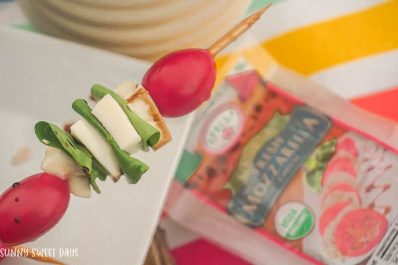 Easy Spinach Caprese Skewers