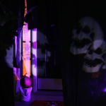 Spooky Glam Halloween Decor | Laser-Light Halloween Front Porch