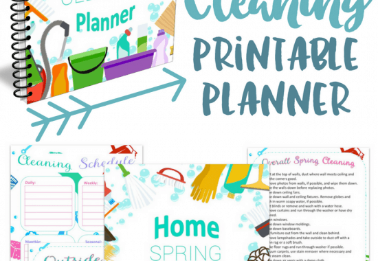 Spring Cleaning Printable Planner