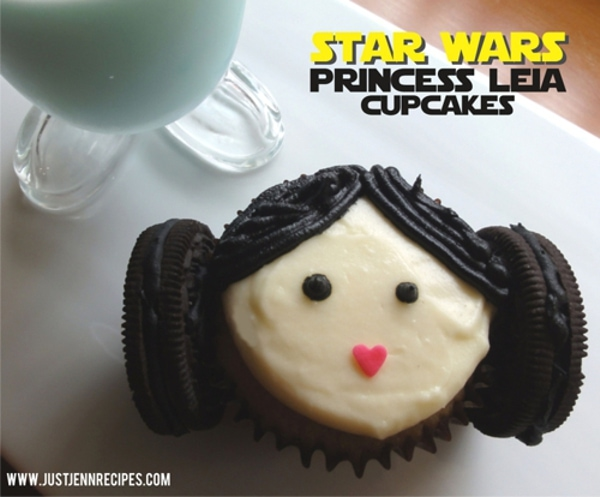 Princess Leia cupcakes - justJENN recipes