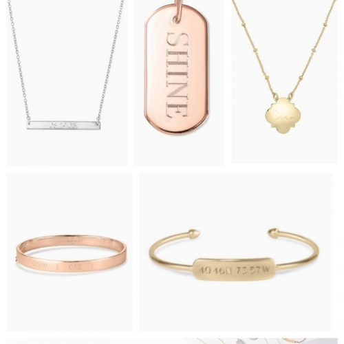 Stella & Dot Engraved Jewelry