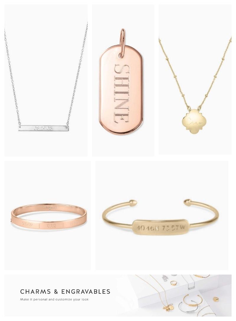 Stella & Dot Engraved Jewelry