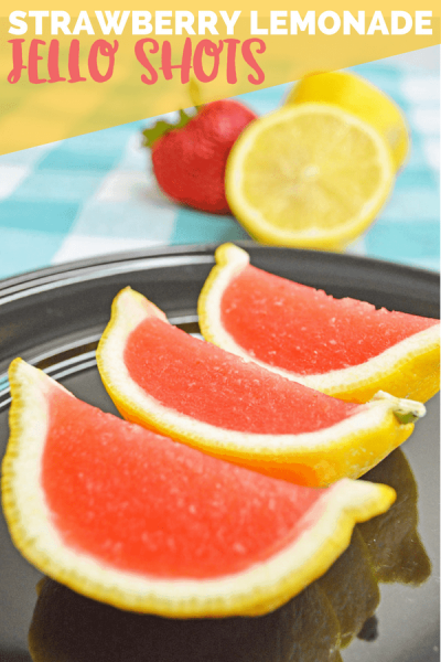 Strawberry Lemonade Jello Shots
