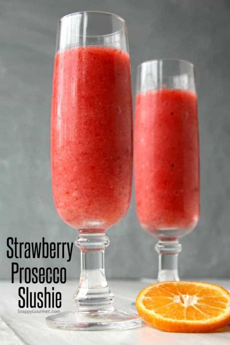 Strawberry Prosecco Slushie Recipe (Prosecco Cocktail)