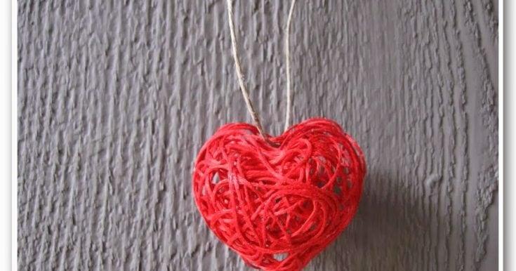 Valentine's Day String Heart Craft Tutorial