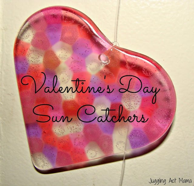 Heart Sun Catchers for Valentine's Day