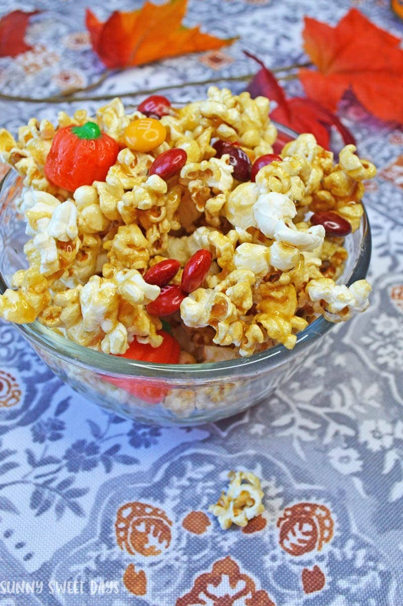 Caramel Corn Snack Mix: Fall Snack Recipes