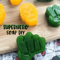 Avengers Party Ideas: Superhero Soap Party Favors