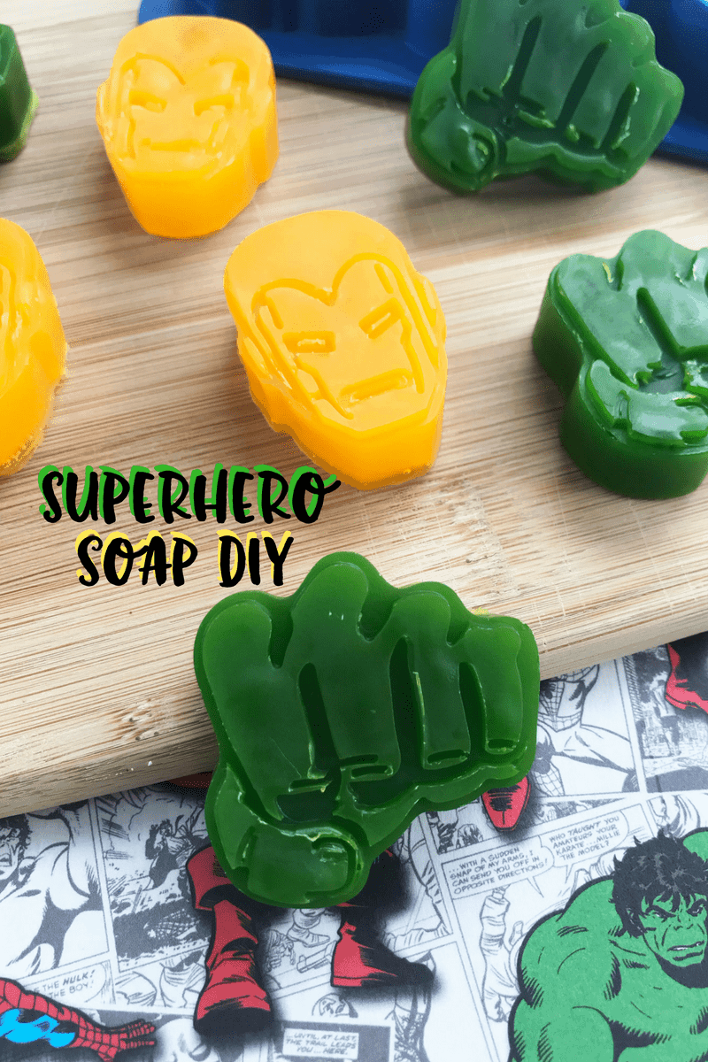 Superhero Soaps: How to Make Soap