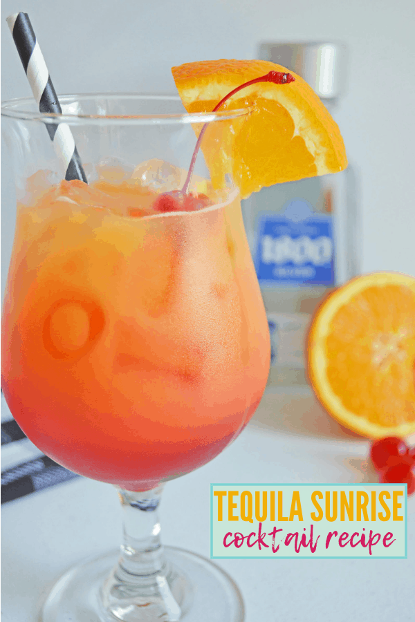 Tequila Sunrise Cocktail Recipe
