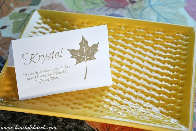 Thanksgiving Place Cards from Krystals Kitsch