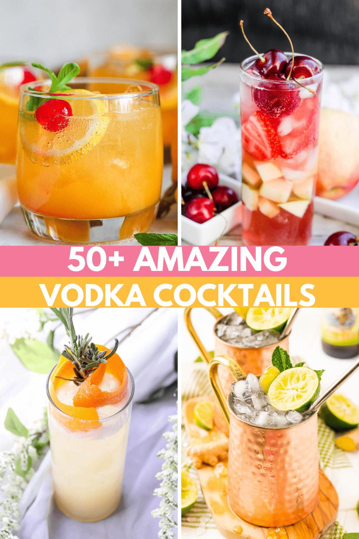 50+ AMAZING Vodka Cocktails: Easy Vodka Drinks