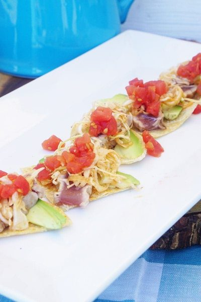 Key West Tuna Nachos | Homemade Nachos Party Inspiration