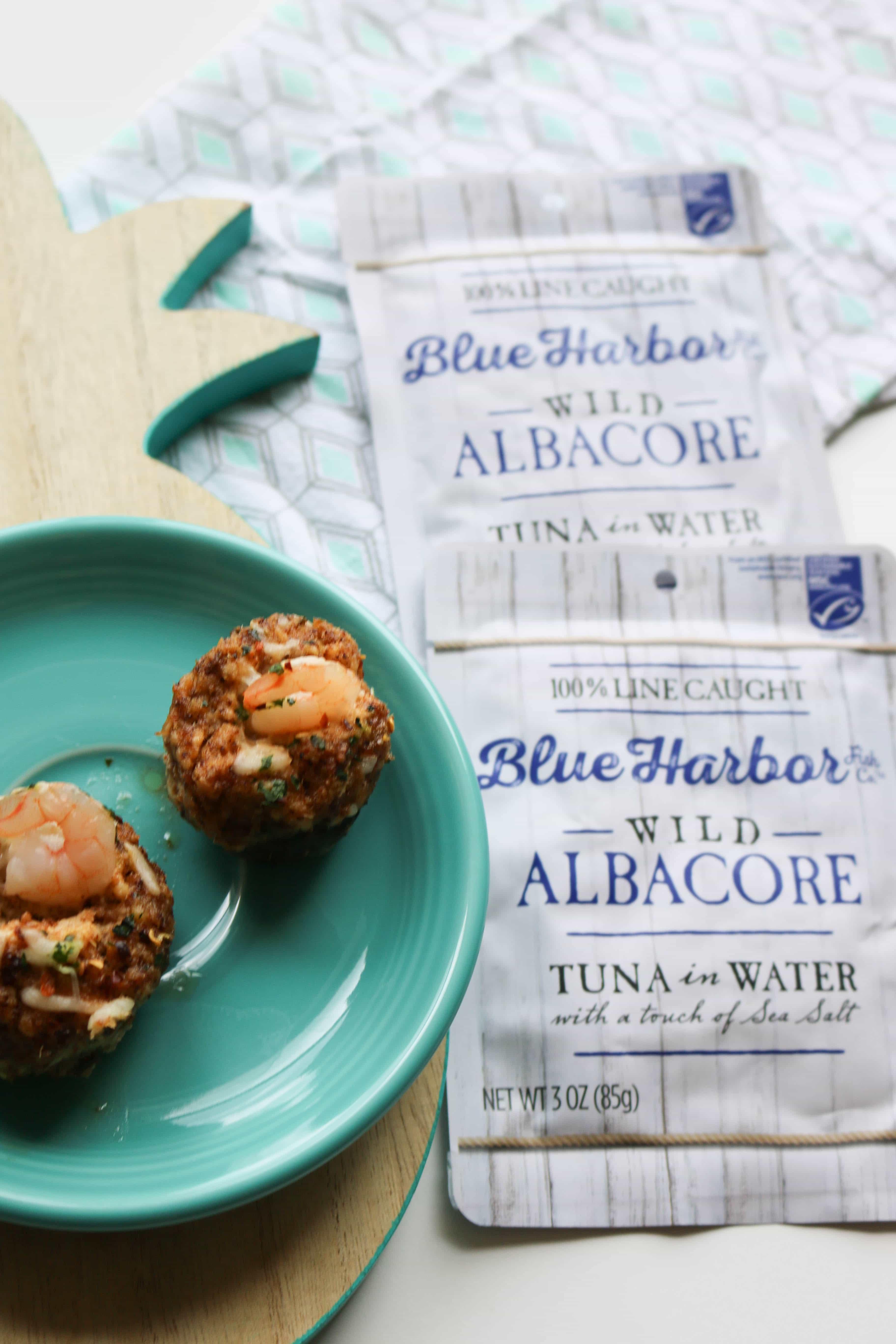 Tuna Stuffed Mushrooms With Shrimp