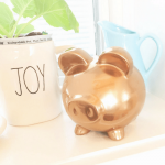 Thrift Store DIY: Gold Piggy Bank Decor