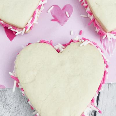 Valentine's Day Sandwich Cookies