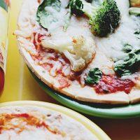 Cauliflower Spinach Vegetable Pizza