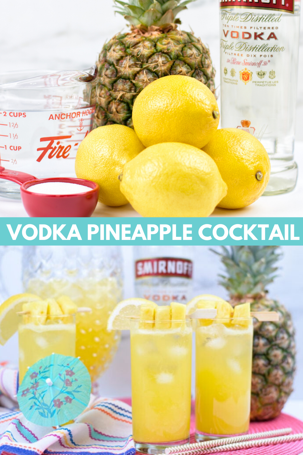 Pineapple Cocktail: Pineapple Vodka Party Punch 🍍