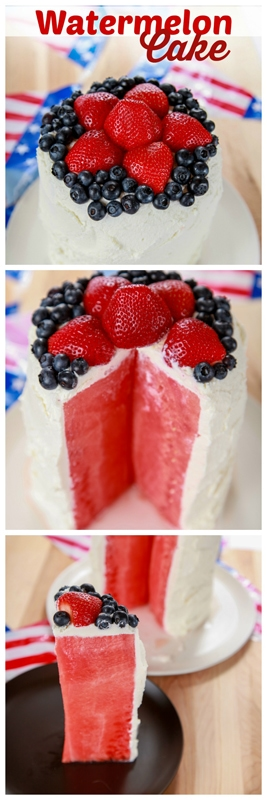 Watermelon Cake Recipe With Whipped Cream
