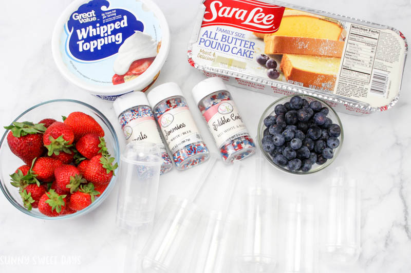 Patriotic Fruit & Cake Push Pops