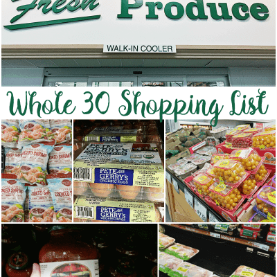 Whole30 Grocery List
