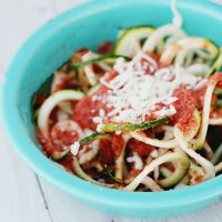 Zoodles and Sugar-Free Red Sauce